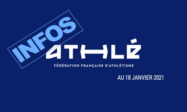 Informations de la FFA au 18 janvier 2021